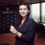 Simona Halep da ora exacta marca Hublot